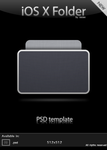 iOS X Folder - PSD Template by xazac87