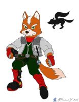 Fox McCloud, ready for combat. by Bleuxwolf