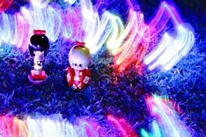 Light Painting Dolls by hurutotheguru