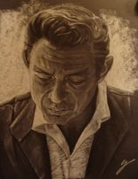Johnny Cash by Fleret