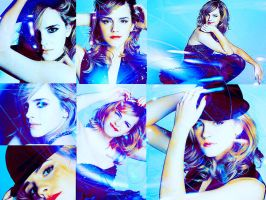 Emma Watson in blue by MarySeverus