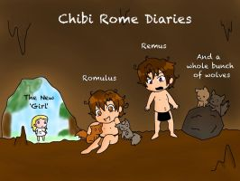 Chibi Rome Diaries Cast by They-see-me-Roman