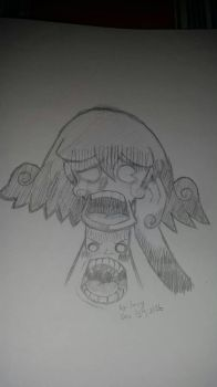 My drawing on a shocked expression by SavyNicholls2