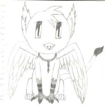 Chibi Griffin by Griffin-Shale