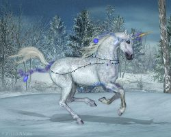 Holiday Unicorn - 3rd times the charm? by Daio
