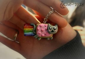 Nyannn Cat Necklace by love-dolly