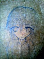 Random Sketch on recycled notebook cover by UnitInfinity
