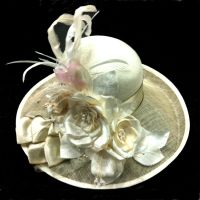 Custom Floral Hat by tracyholcomb