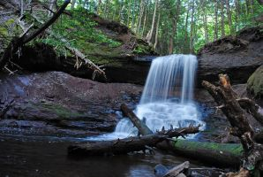 Gagetown waterfall 1 by LucieG-Stock