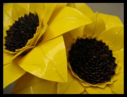 Two Duct Tape Sunflowers by DuckTapeBandit