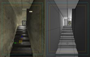 stairs wireframe+viewport text by zuliban