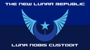 The Flag of the New Lunar Republic by PilotSolaris