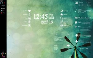 Screenshot with rainmeter by Yurica
