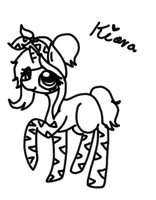 Lineart of my new pony~ by Axunna
