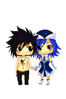 CP:Gray and Juvia Chibis by Wosda