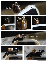 Mr. Owl Earphone plug by ChewChewLovesYou