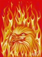 aguila fuego by TOCHE