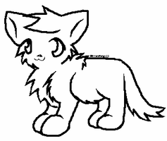 FREE Cat Line Art by Firestar999