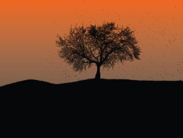 Lone tree wallpaper 1 by cheduardo2k
