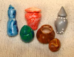 miniature pottery by KRSdeviations