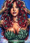Poison Ivy Sketch Card from DC's Women of Legend by Kapow2003