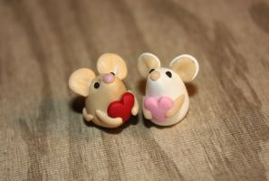 Valentine Mice by Aluciel286