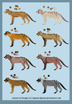 Thylacine-adoptables :3 CLOSED by Aquene-lupetta