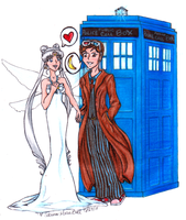 Queen Serenity and the Doctor by SailorSunstone