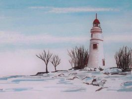 Marblehead Watercolor winter by TomKilbane