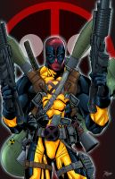 Deadpool fully loaded colored by RCarter