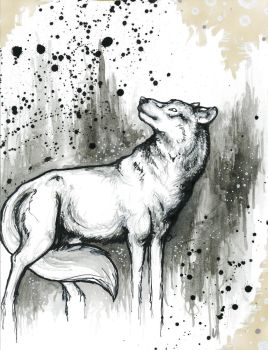 Spirit Wolf by causticxace