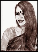 So Indian - Drawing by manojart