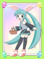 Hatsune Miku as Easter Bunny by J8d