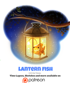 Day 1386. Lantern Fish by Cryptid-Creations