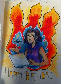 Fire Birthday Card by clemon