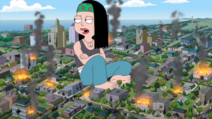 Giantess Hayley Rampage by BigChipher66