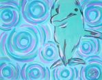 Dolphin with Swirls by ToniTiger415