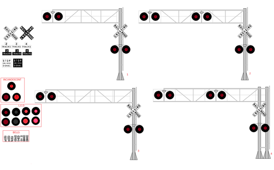 Cantilever Signals for Different Uses by WillM3luvTrains