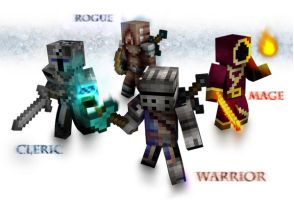 Minecraft Heroes by SFrostWing