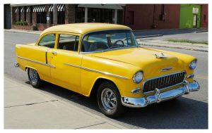 A Yellow 55' Chevy by TheMan268