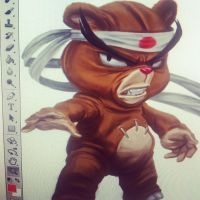 Early Sensei Bear concept art by Bourrouet