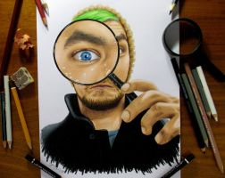 Jacksepticeye Portrait in Colored Pencil by JasminaSusak