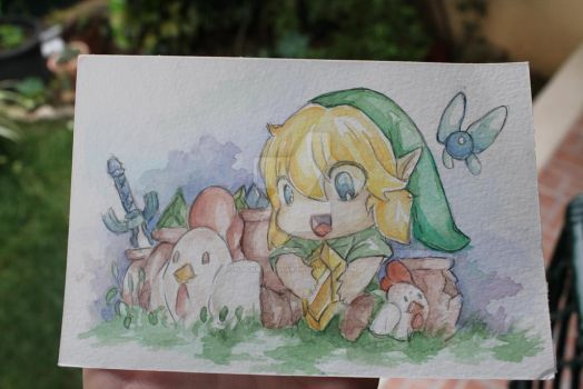 Chibi link by BlackNightStar