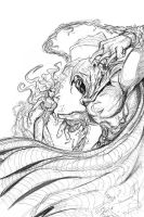 Moon Knight vs Poison Ivy by teach