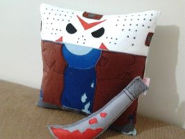 Handmade Jason Friday the 13th Movie Plush Pillow by RbitencourtUSA