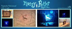 Expecto Patronum Light Box - On And Off by GreenYosh