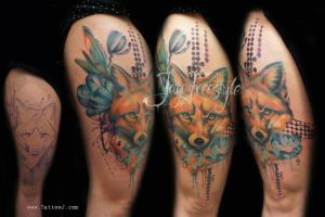 Fox tattoo - Jay Freestyle by JayFreestyle