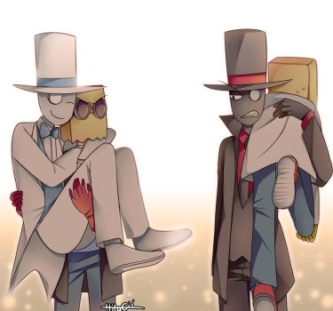 Paperhat x2 by Hitagii-chan
