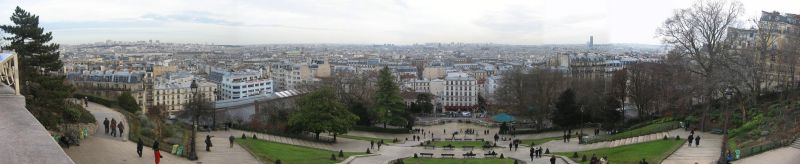 Panorama of Paris from Montmartre hill by nekosnap