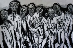 Zombies by DustyPaintbrush